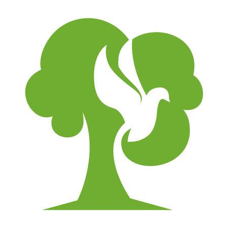 Tree Bird green