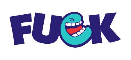 Fuck funny typography