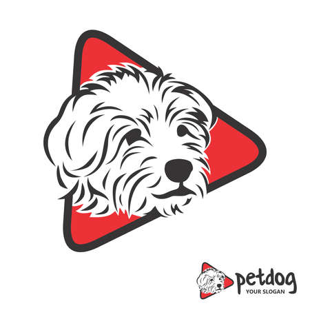 Head Dog and triangle red