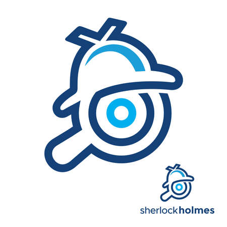 Detective icon blue