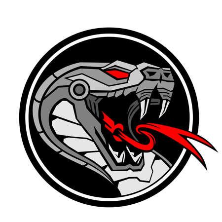 Schlangenkopf Roboterkreis Vektorgrafik