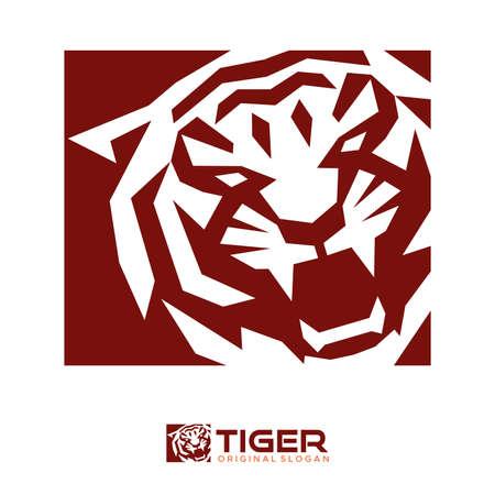 Tiger head rectangle