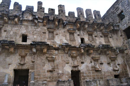 Ancient Aspendos Theater in Antalya Imagens