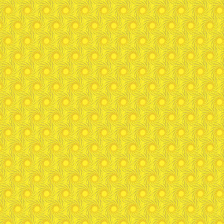 Sunny yellow illustration seamless pattern