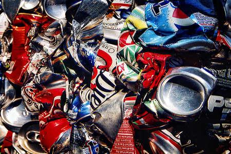 abstrait: Cans compression