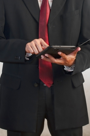 businessman using a tablet computer Stock Photo - 16899318