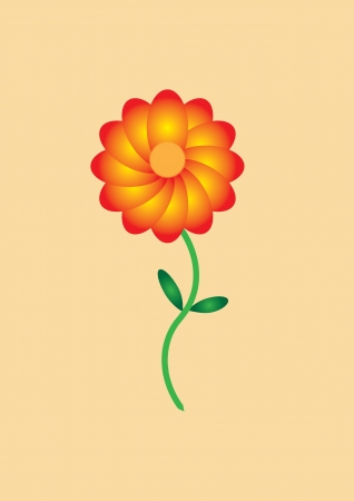 flower in orange color Stock Vector - 17937522