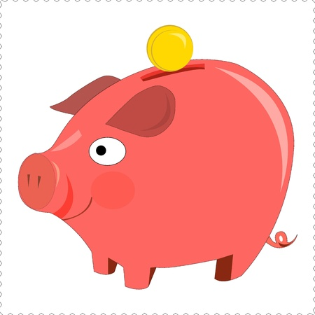 pinky piggy bank Stock Vector - 17937505
