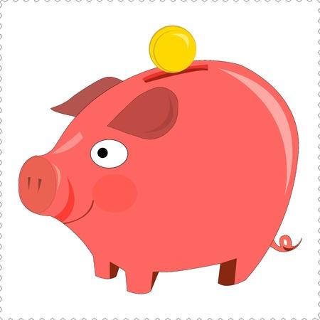 pinky piggy bank Stock Vector - 17937505