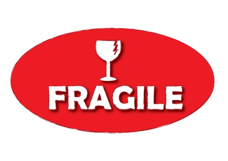 Grunge office stamp with the word fragile