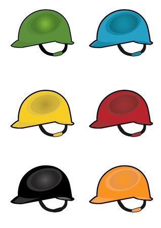 colorful construction safety helmet Stock Vector - 20087983