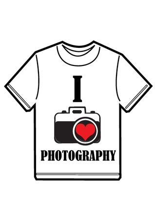I love photography t-shirt  Illustration