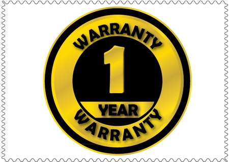 One year warranty Vector