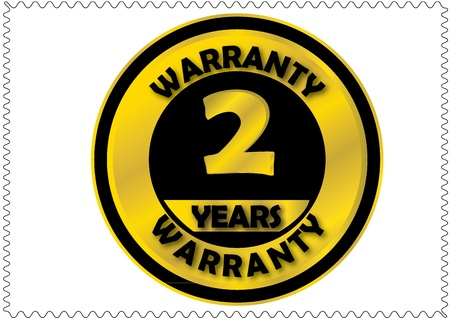Two years warranty Vector
