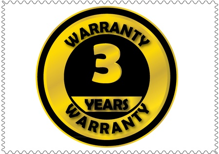 Three years warranty Vector