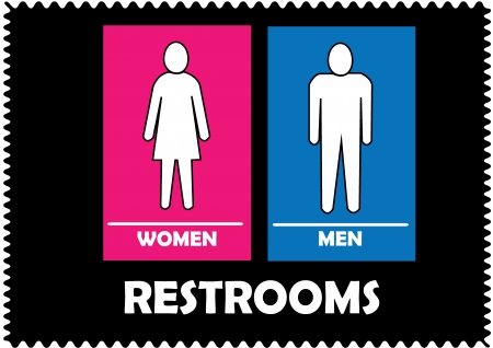 Restrooms Sign Stock Vector - 20088031