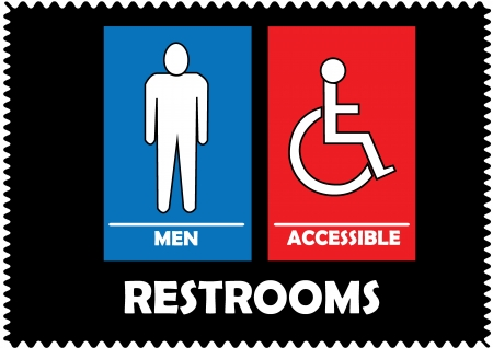 Restrooms Sign Stock Vector - 20088038