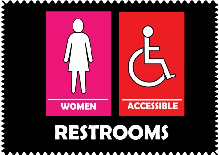 compliant: Restrooms Sign