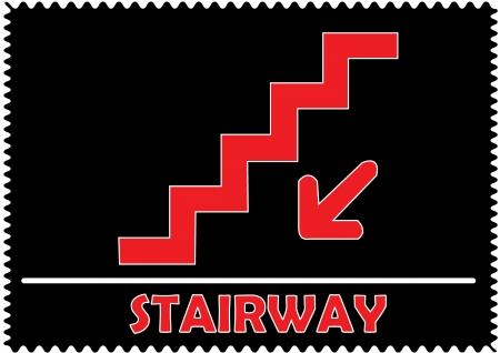 Stairway sign Vector