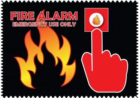 open flame: Fire Alarm Emergency Use Only, sign