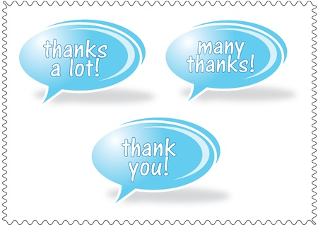 Thank you - grateful bubbles Stock Vector - 20088065