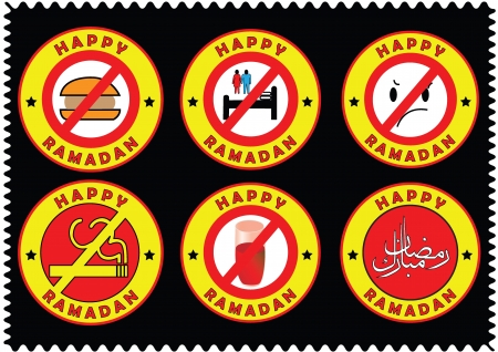 Happy Ramadan, things which are forbidden during fasting icons