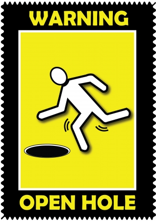 Warning, Open Hole, icon  Vector