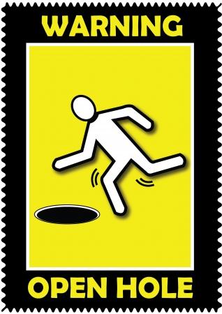 Warning, Open Hole, icon