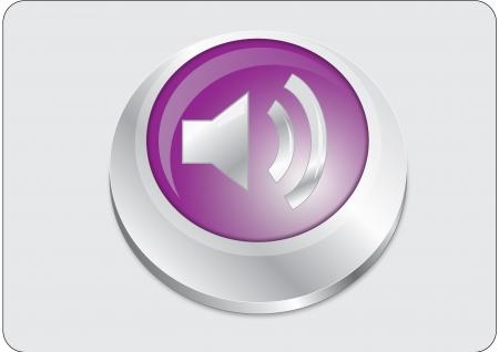 pc tune: Volume icon purple button Illustration
