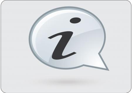 flysheet:  information, icon, internet, communication Illustration
