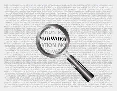 motivation word focus through magnifying glass Vector