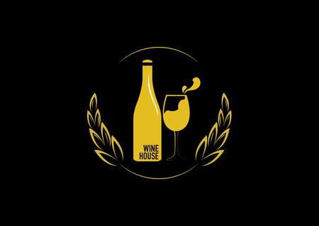 wine bottle glass design menu background