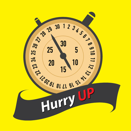 stopwatch - hurry UP  concept  Vector
