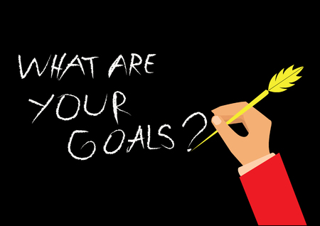 creative composition with the message  What Are Your Goals   Illustration