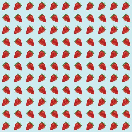 strawberry seamless pattern background. vector illustration. Illustration