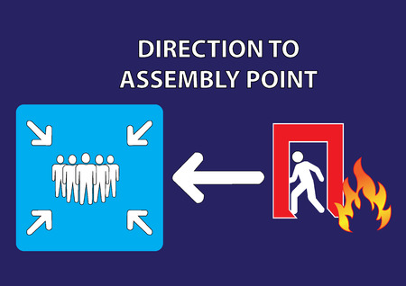 assembly point: direction of assembly point illustration