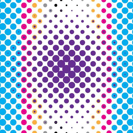 colorful halftone dots illustration