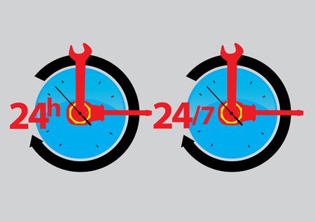 service sign icon.vector illustration Vector