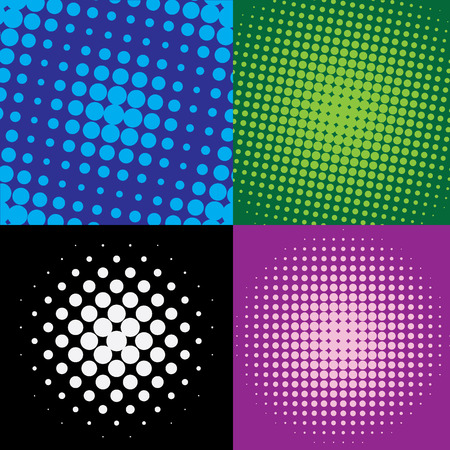 colorful  halftone dots, vector illustration Illusztráció
