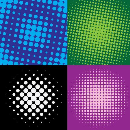 colorful  halftone dots, vector illustration Vettoriali