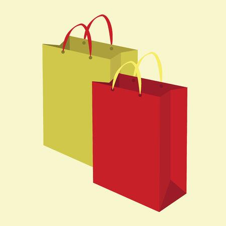 shopping bags. vector illustration Illustration