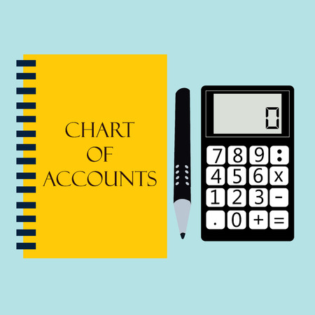 financial accounting with calculator. vector illustration Vector