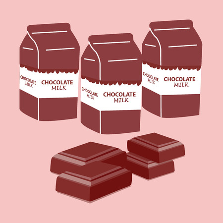 pasteurize chocolate milk UHT. vector illustration