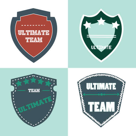 ultimate: ultimate shield product retro label illustration Illustration