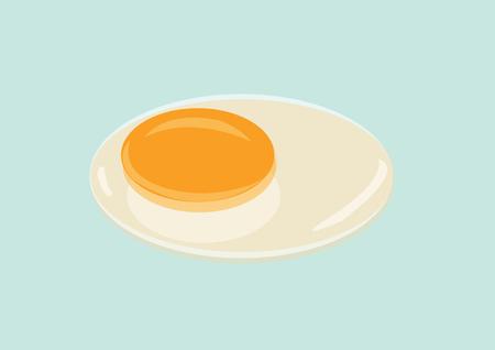 Raw Egg with Yolk and Albumen. Vector Illustration