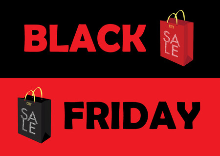 Black Friday Sale Poster. Vector Illustration Illustration