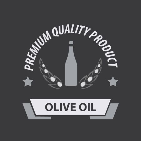 Olive Oil Premium Quality. Vector Illustration Illustration