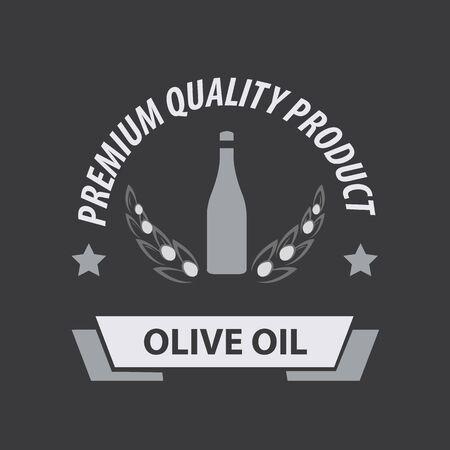 oilcan: Olive Oil Premium Quality. Vector Illustration Illustration