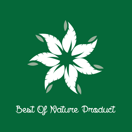 grown with love: Best of Nature Product Label. Vector illustration Illustration