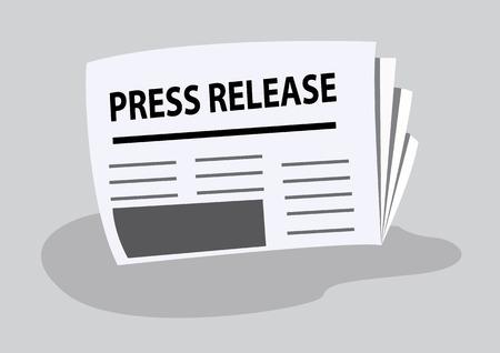 press release written on newspaper. vector illustration Illustration